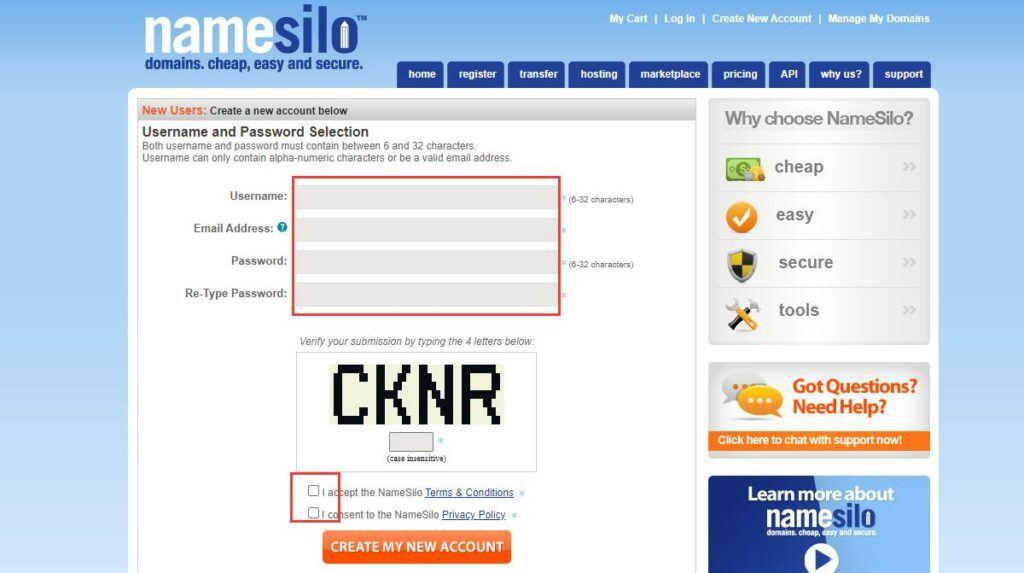 Wie man einen Domain-Namen in namesilo registriert - der billigste Domain-Name