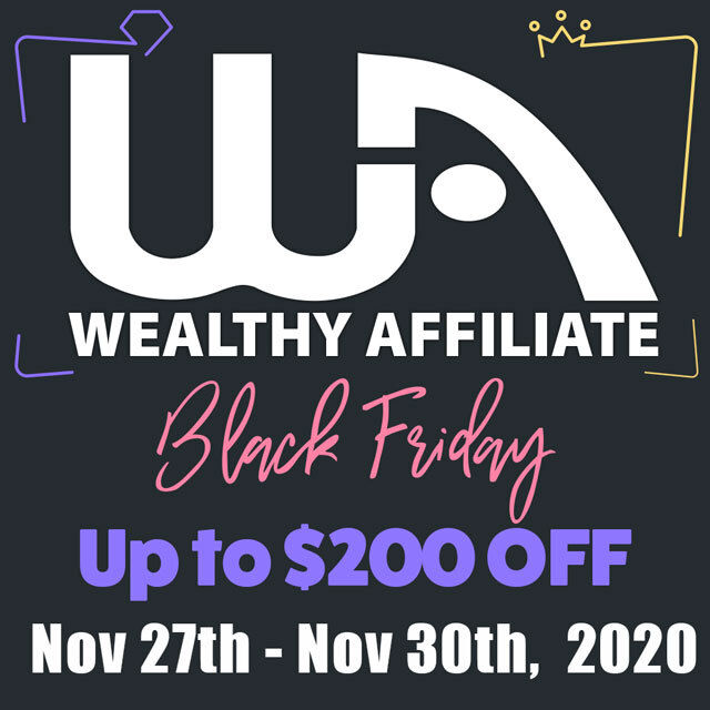 2020 Black Friday Cheapest Wealthy Affiliate 2